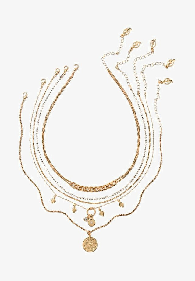 5 PACK - Halsband - gold-coloured