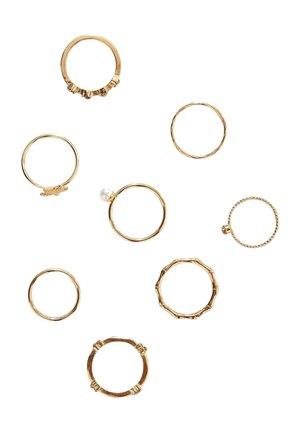 7 SET  - Ring - gold