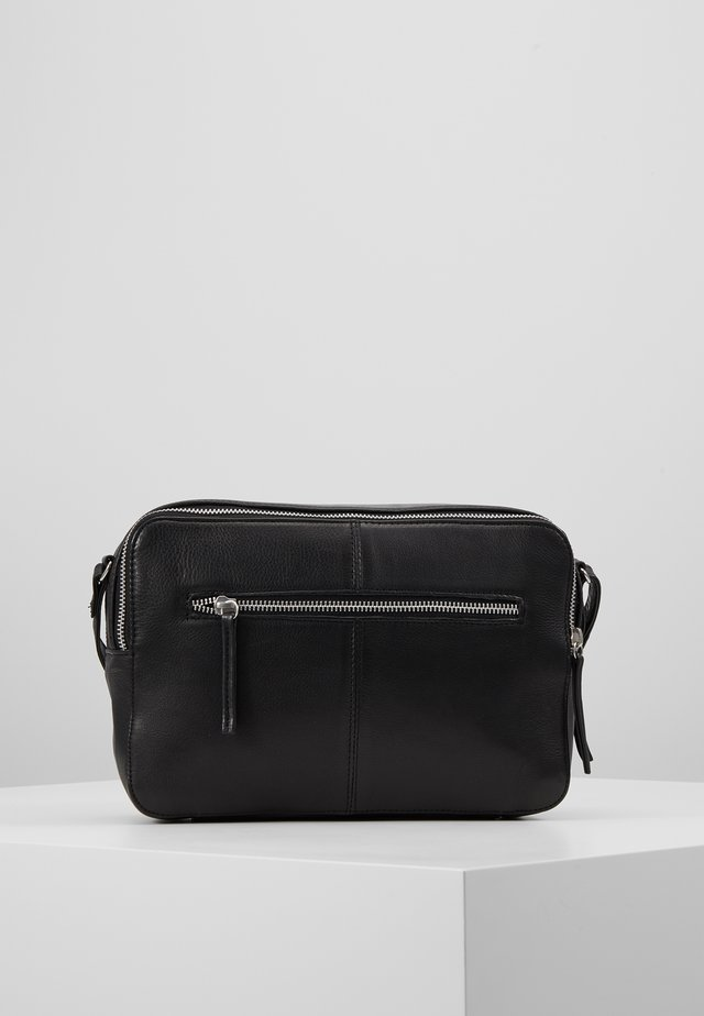 ANOUK DOUBLE ZIP CROSSBODY - Olkalaukku - black