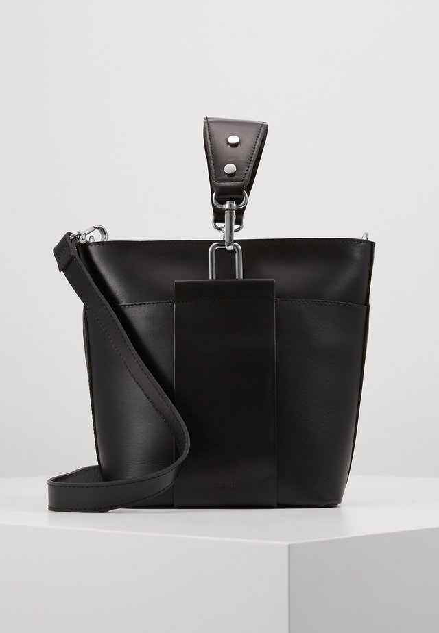 APRIL BUCKET BAG - Käsilaukku - black
