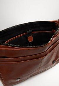 Still Nordic - CLEAN LARGE MESSENGER - Across body bag - cognac - 4