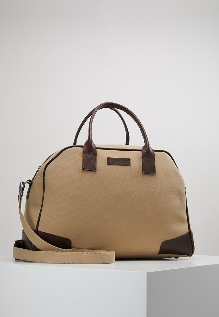Still Nordic - JUST WEEKEND BAG - Weekend bag - sand/dark brown