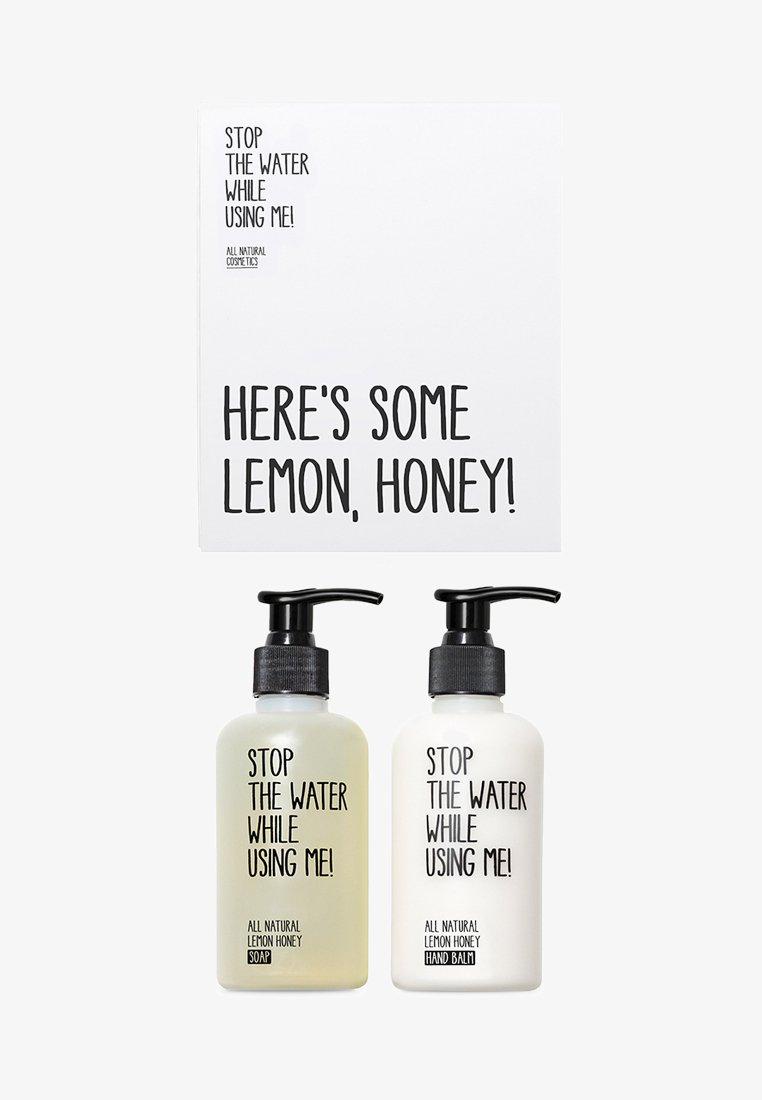 STOP THE WATER WHILE USING ME! - ALL NATURAL HAND KIT SOAP 200ML & HANDBALM 200ML - Bath and body set - lemon honey