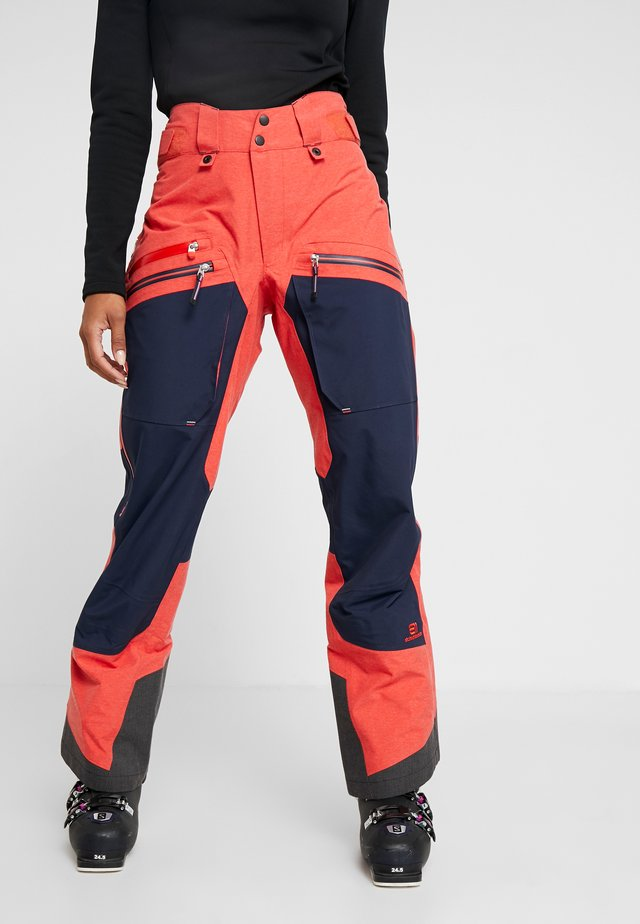 BACKSIDE PANTS - Snow pants - red glow