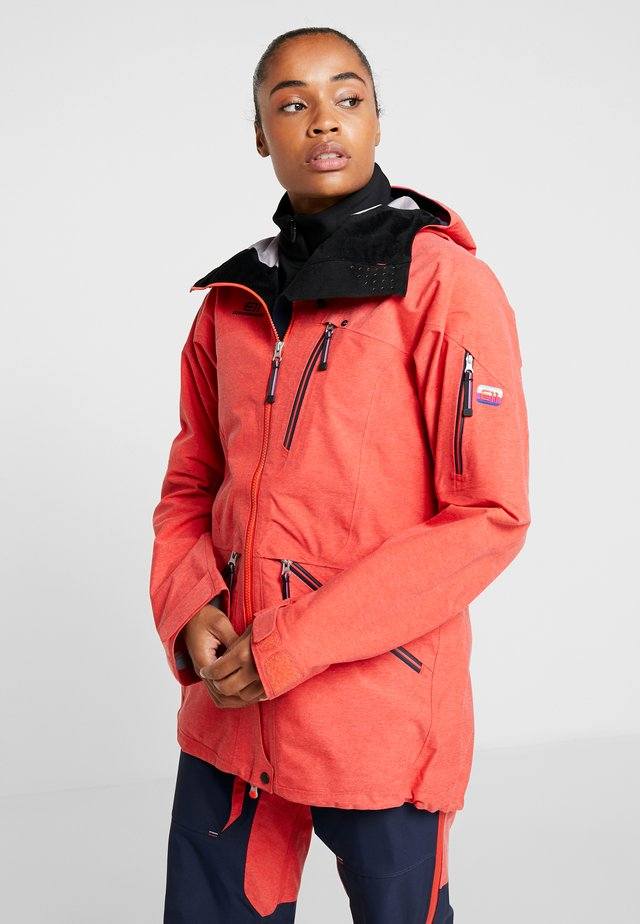 BACKSIDE JACKET - Ski jacket - red glow