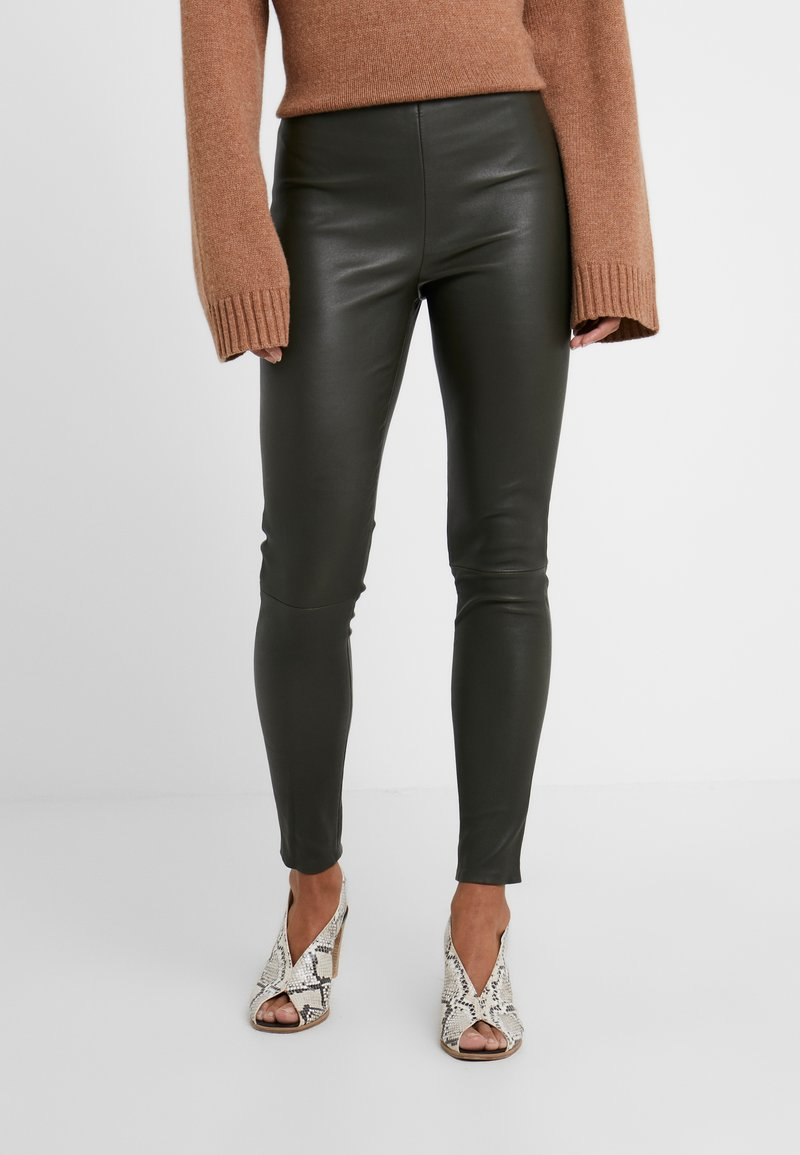 STUDIO ID - LENA - Leather trousers - green