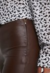 STUDIO ID - LENA - Leather trousers - brown