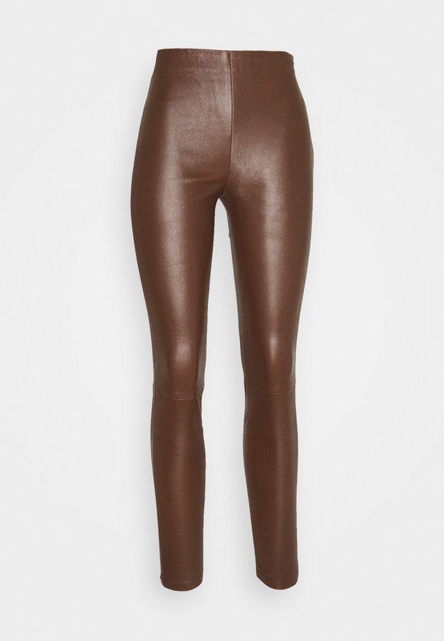 LENA  - Lederhose - brown