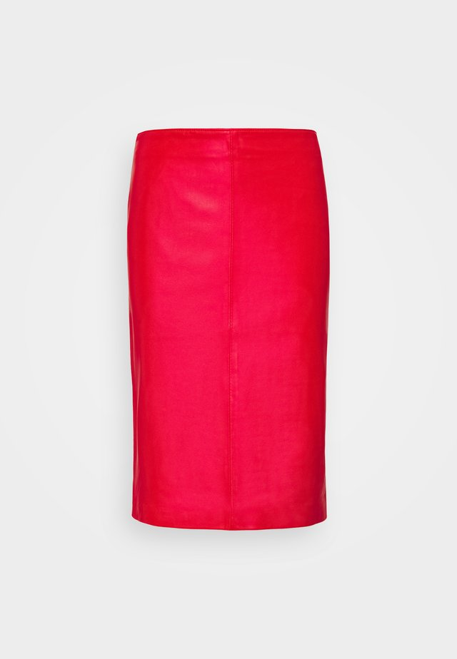 HANNA PENCIL SKIRT - Pencil skirt - red