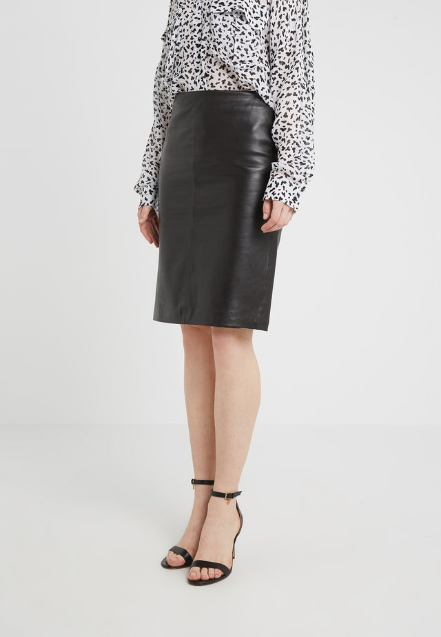 HANNA PENCIL SKIRT - Pencil skirt - dark brown