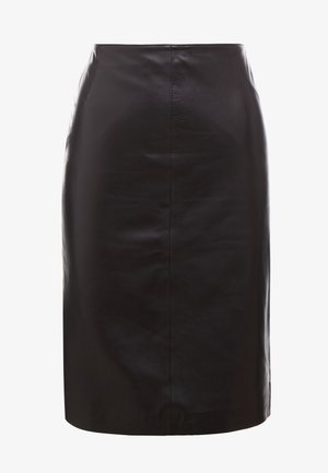 HANNA PENCIL SKIRT - Pouzdrová sukně - dark brown