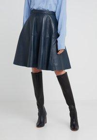 STUDIO ID - TESSA SKIRT - A-linjainen hame - dark blue - 0