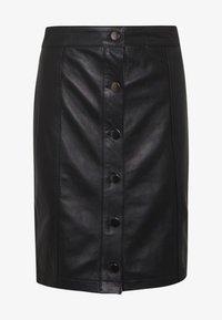 STUDIO ID - ANGIE SKIRT - Kožená sukně - black - 5