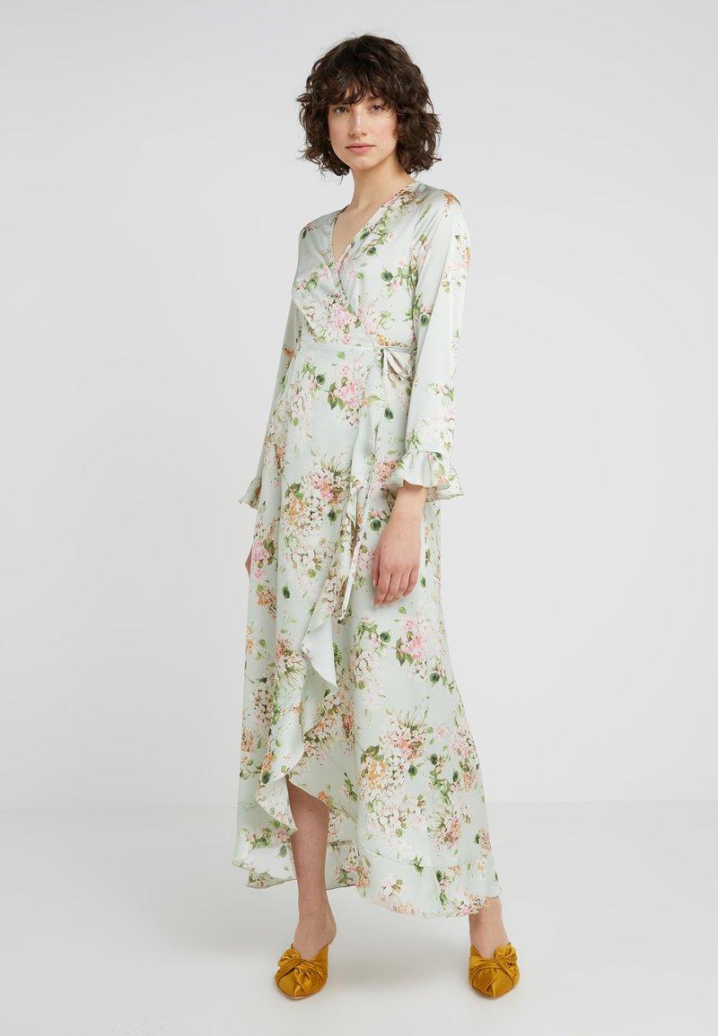 STUDIO ID - JULE LONG DRESS - Vestito lungo - light green/flora multi