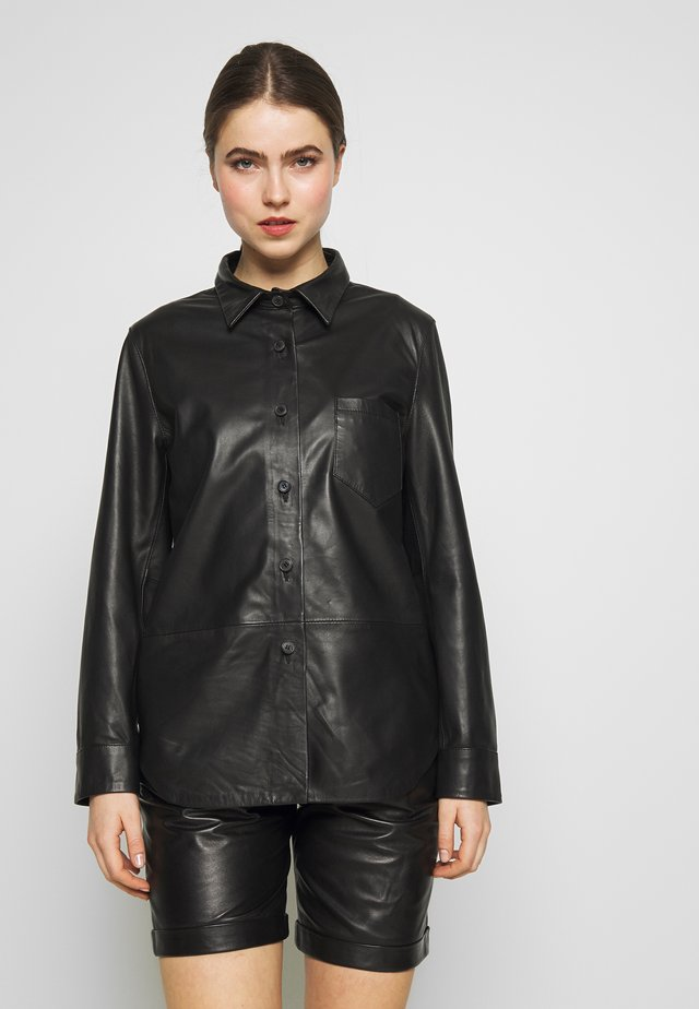 RIKE - Button-down blouse - black