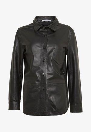 RIKE - Button-down blouse - black