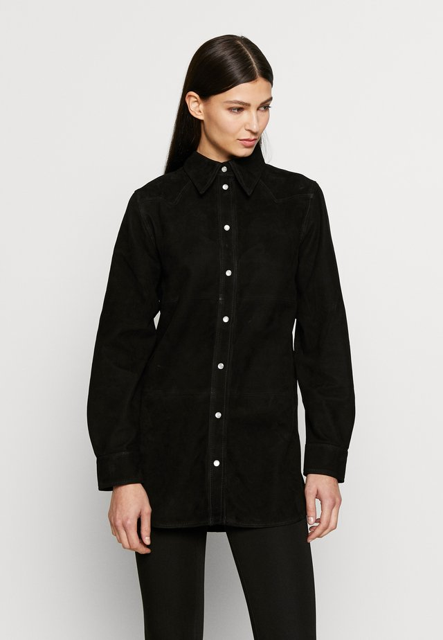 VICTORIA - Button-down blouse - black