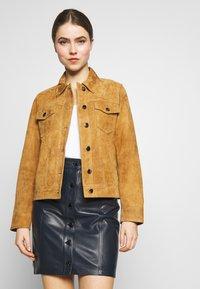 STUDIO ID - PHILIPPA JACKET - Leather jacket - cognac - 0