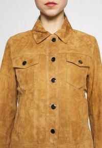 STUDIO ID - PHILIPPA JACKET - Leather jacket - cognac - 4