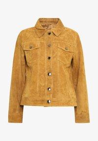 STUDIO ID - PHILIPPA JACKET - Leather jacket - cognac - 3