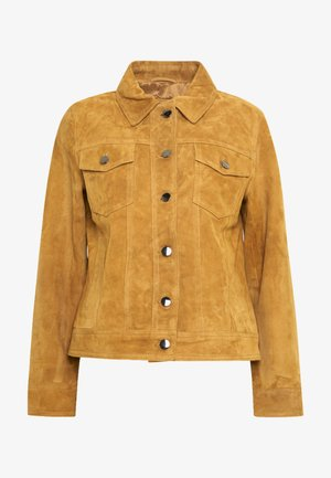 PHILIPPA JACKET - Leather jacket - cognac