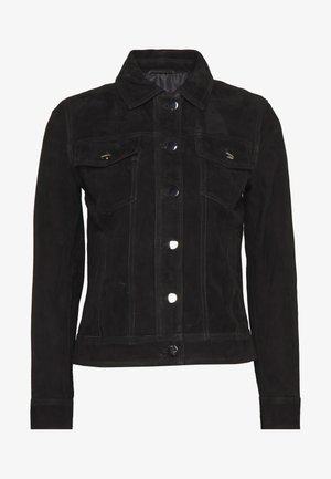 PHILIPPA JACKET - Veste en cuir - black