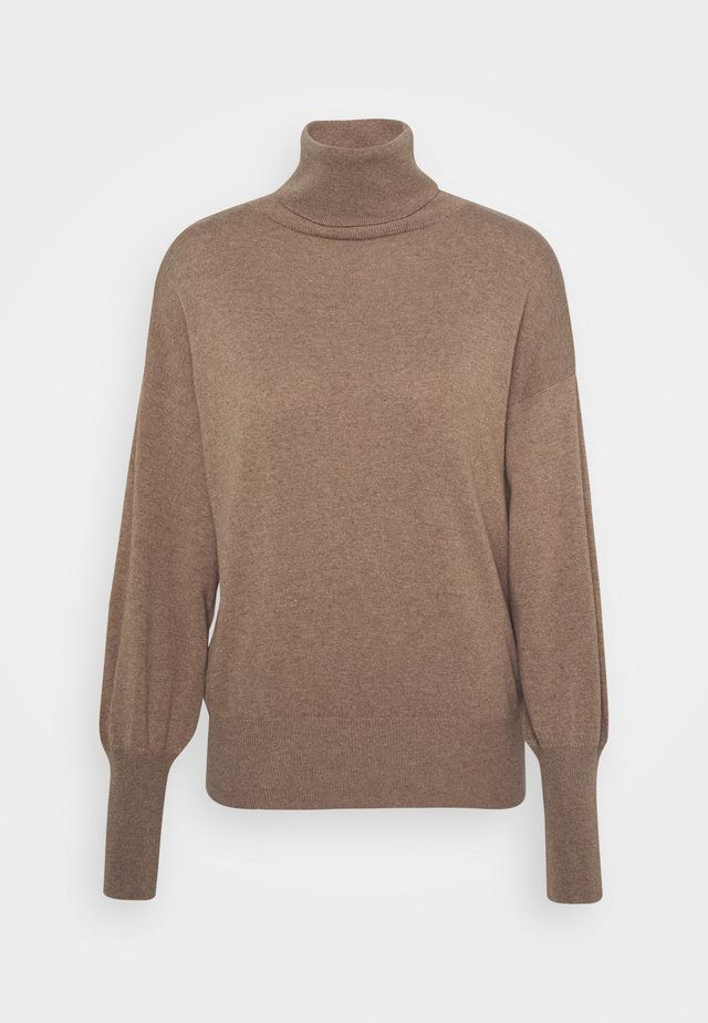 TURTLE NECK - Jumper - camel