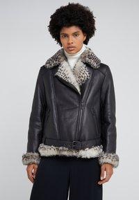 STUDIO ID - BIKER JACKET - Leather jacket - black - 0