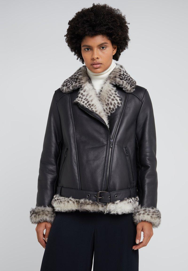 STUDIO ID - BIKER JACKET - Leather jacket - black