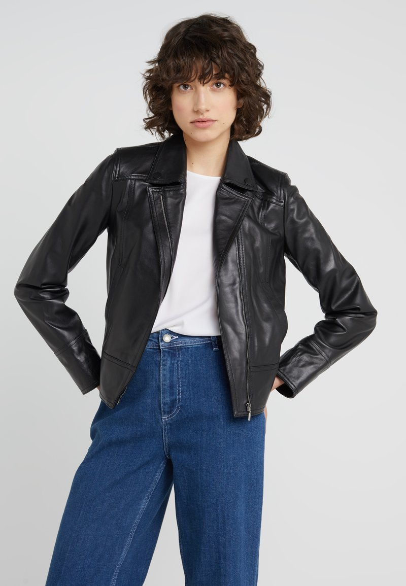 STUDIO ID - HELEN JACKET - Leather jacket - black