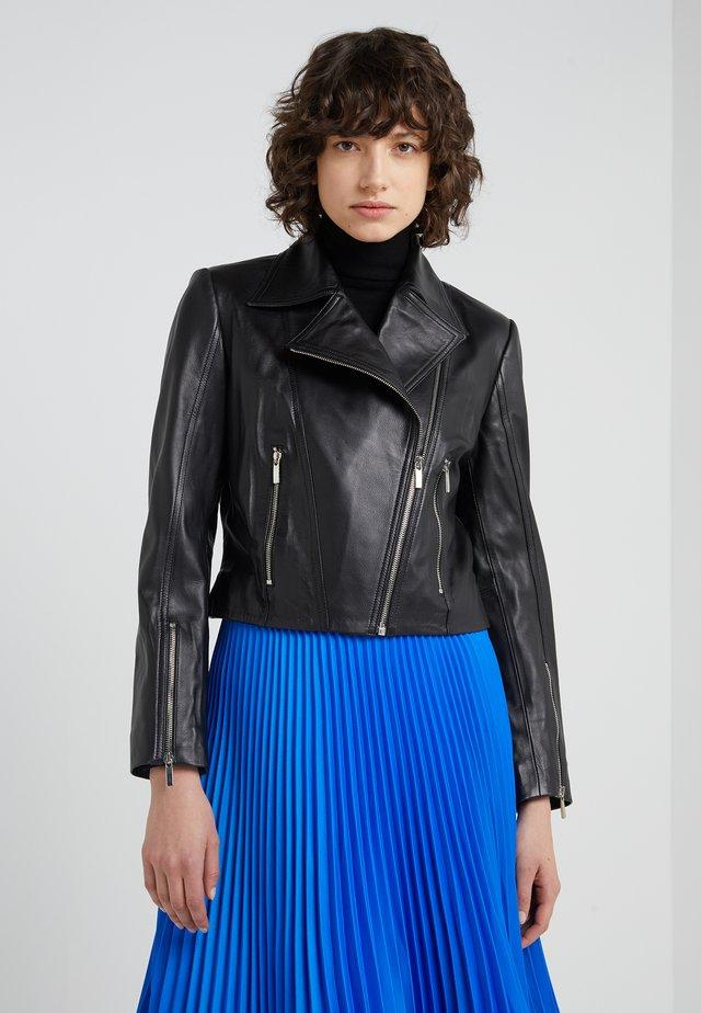 MARIE JACKET - Veste en cuir - black