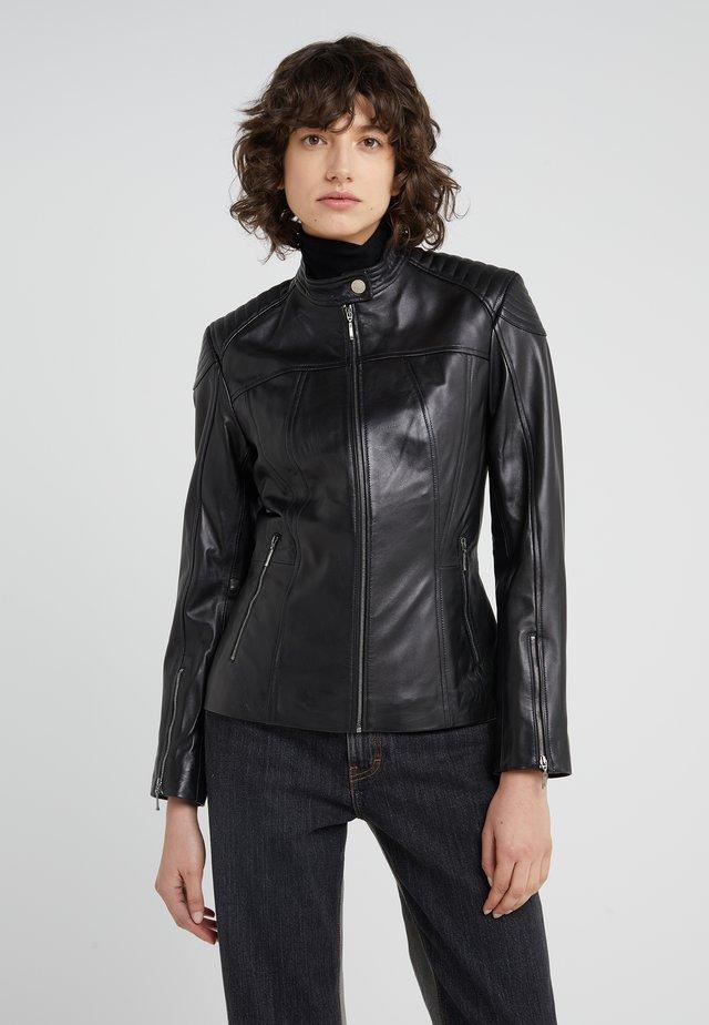 STACEY JACKET - Leather jacket - black