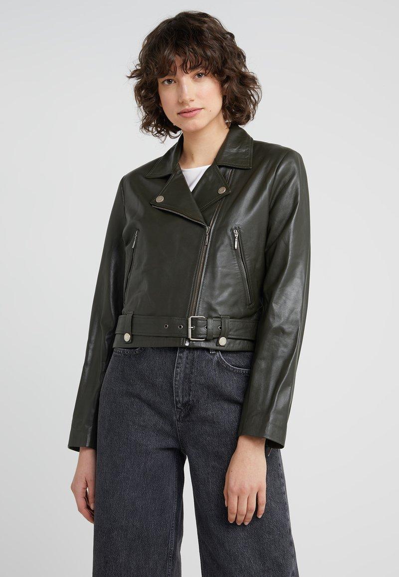 STUDIO ID - JULE JACKET - Leather jacket - green