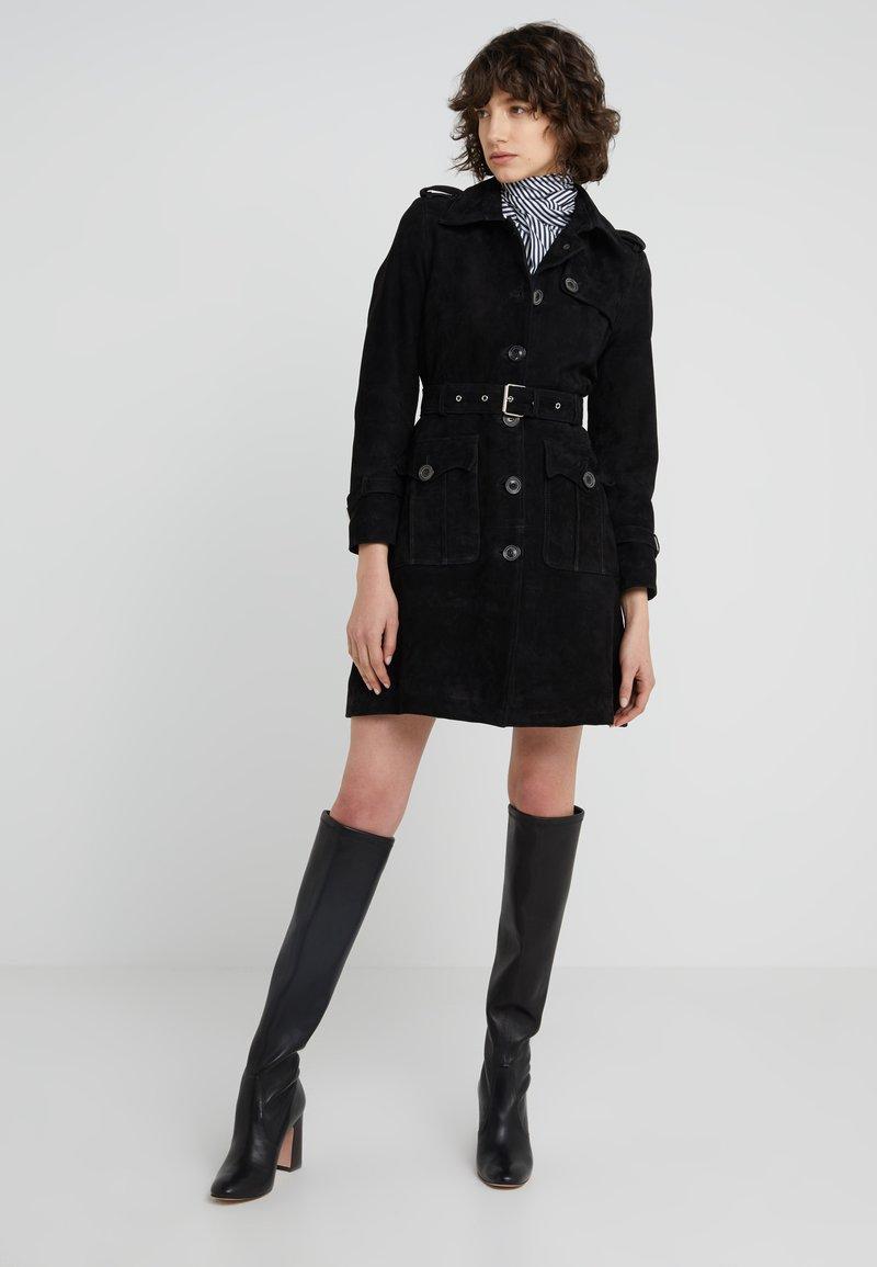 STUDIO ID - VIRGINIA TRENCH - Leather jacket - black