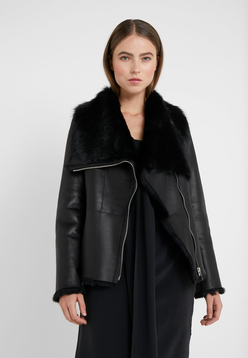 STUDIO ID - PHILIPPA JACKET - Leather jacket - black