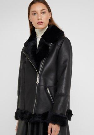 FREDA SHEARLNG JACKET - Leather jacket - black