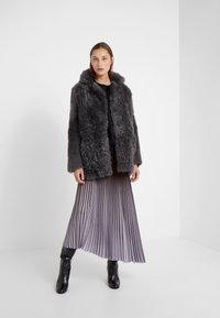 STUDIO ID - ALEXIA REVERSIBLE COAT - Leather jacket - grey - 1
