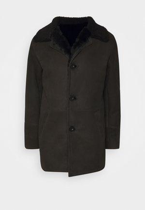 BURGALESE  - Leather jacket - suede black