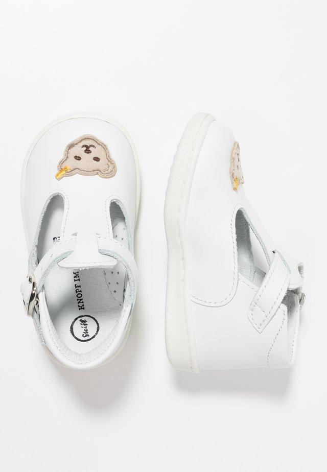 TIINA - Lær-at-gå-sko - white