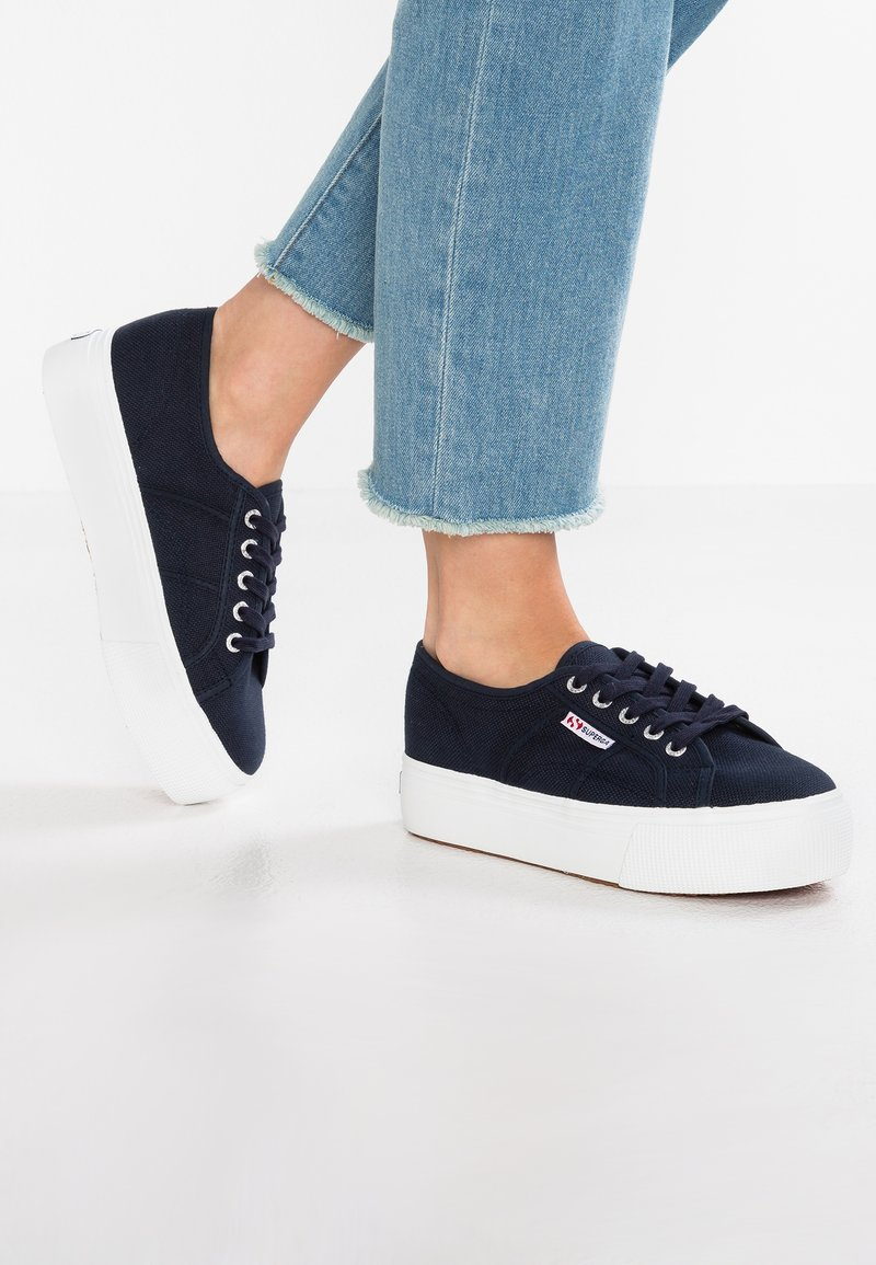 Superga - 2790 LINEA UP AND DOWN - Trainers - navy/white
