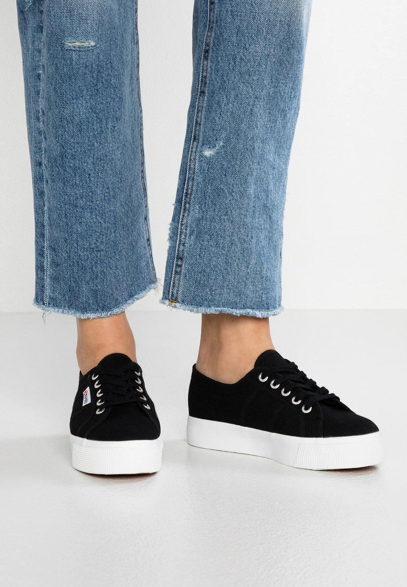 Superga - COTU - Trainers - black/white