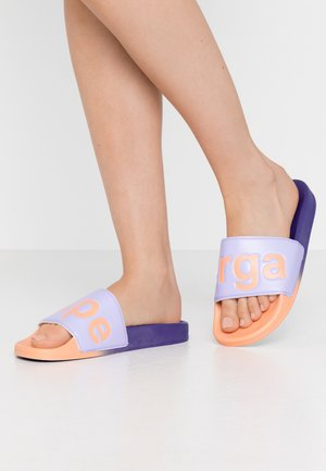 SLIDES  - Mules - violet/purple/orange