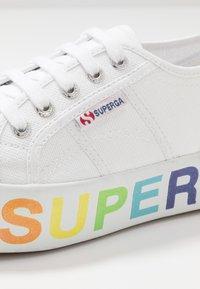 Superga - 2790 GLITTERLETTERING - Tenisky - white/multicolors - 2