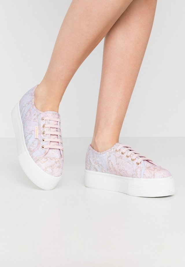 2790 MARBLEPRINT - Sneakers laag - pink/pale lilac/gold