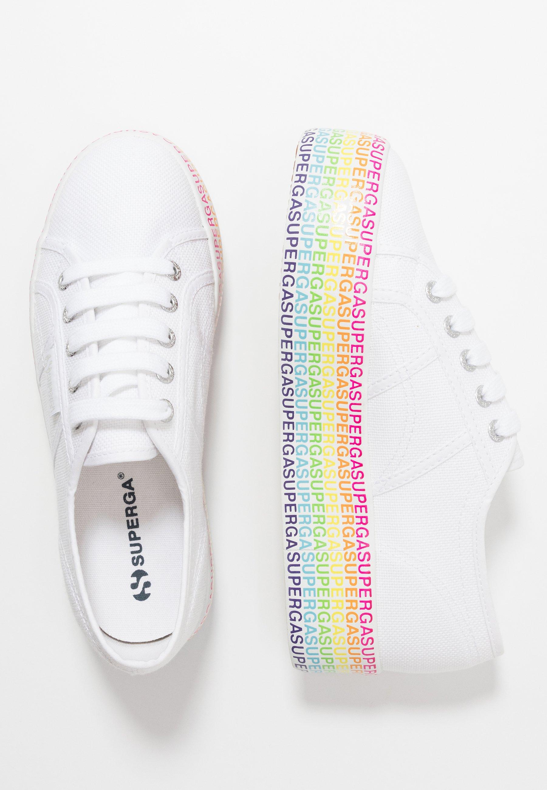 Superga 2790 MINILETTERING - Sneaker low - white/multicolor eVfJod