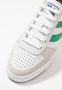 Superga - LEAU - Zapatillas - white/green - 6