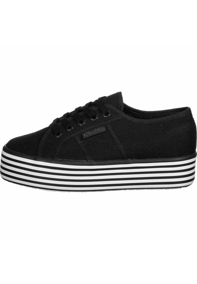 SCHUHE 2790 MULTICOLOR COTW - Baskets basses - black black white stripes