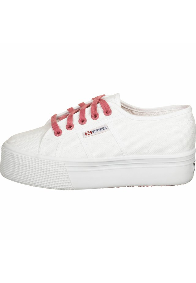 SCHUHE 2790 COT W CONTRAST - Sneakersy niskie - white pink extase