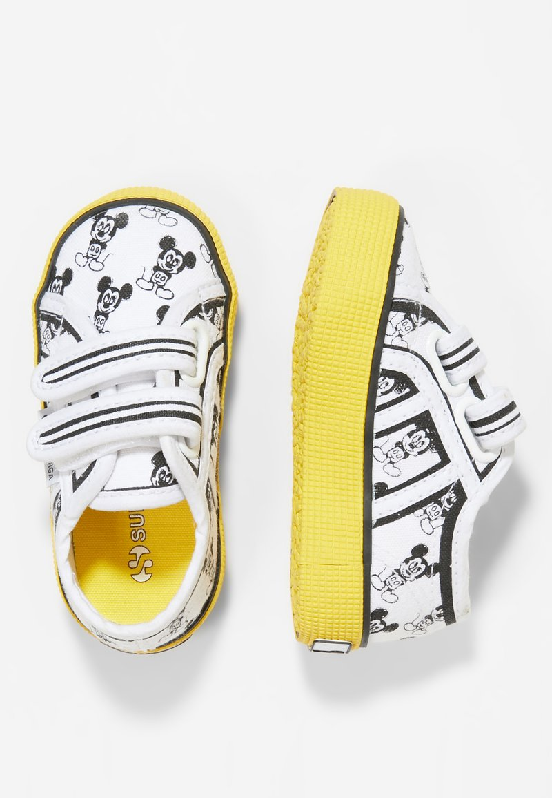 Superga - ALLOVERSTRA - Zapatos de bebé - white/sunflower