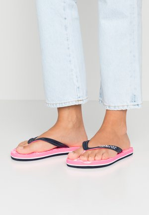 SCUBA GRIT - Pool shoes - dark navy/optic white